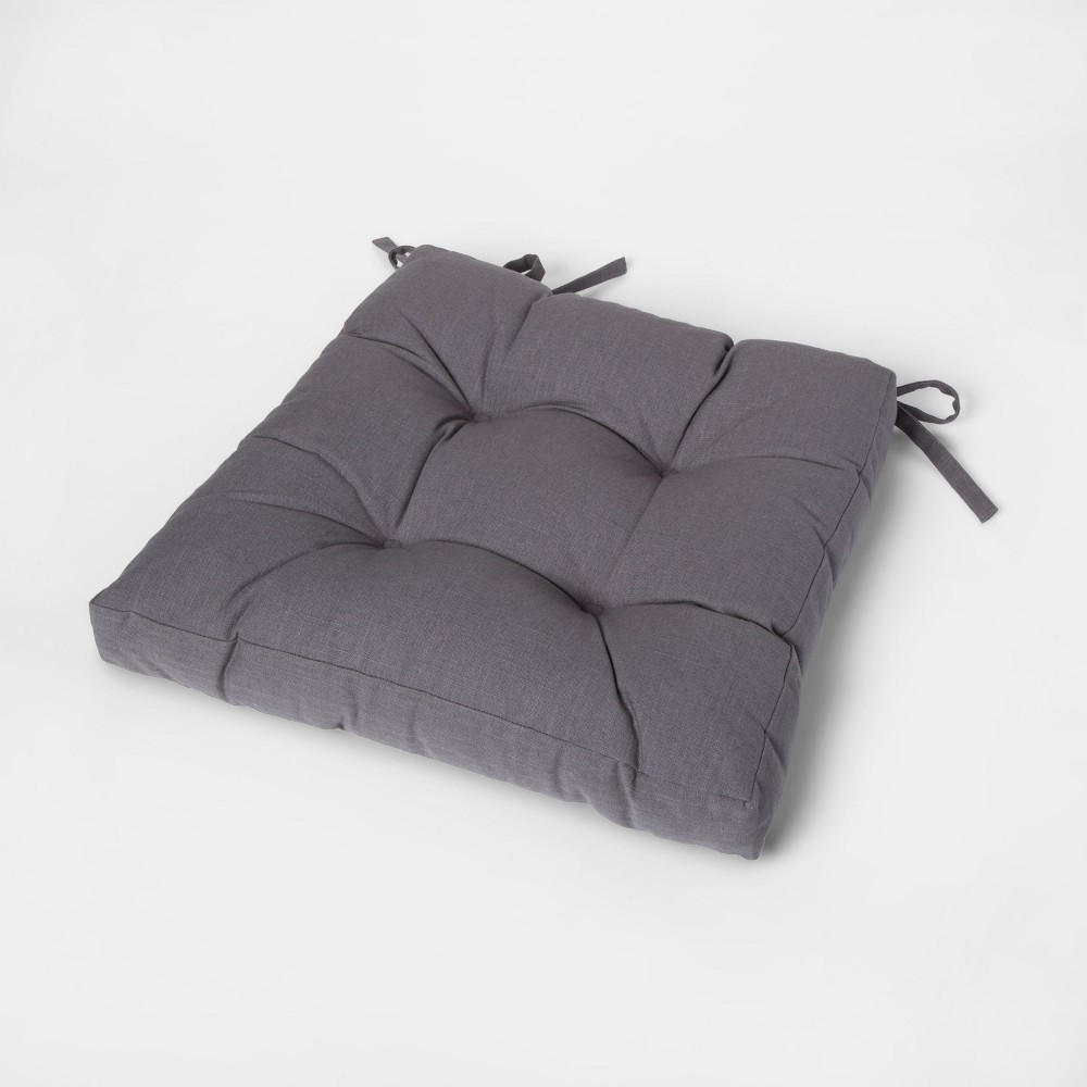 Image of Gray Square Chairpad - Threshold