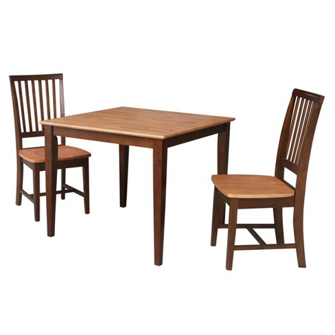 """36""""X36"""" Richard Dining Table with 2 Chairs Espresso Brown - International Concepts - image 1 of 4"""