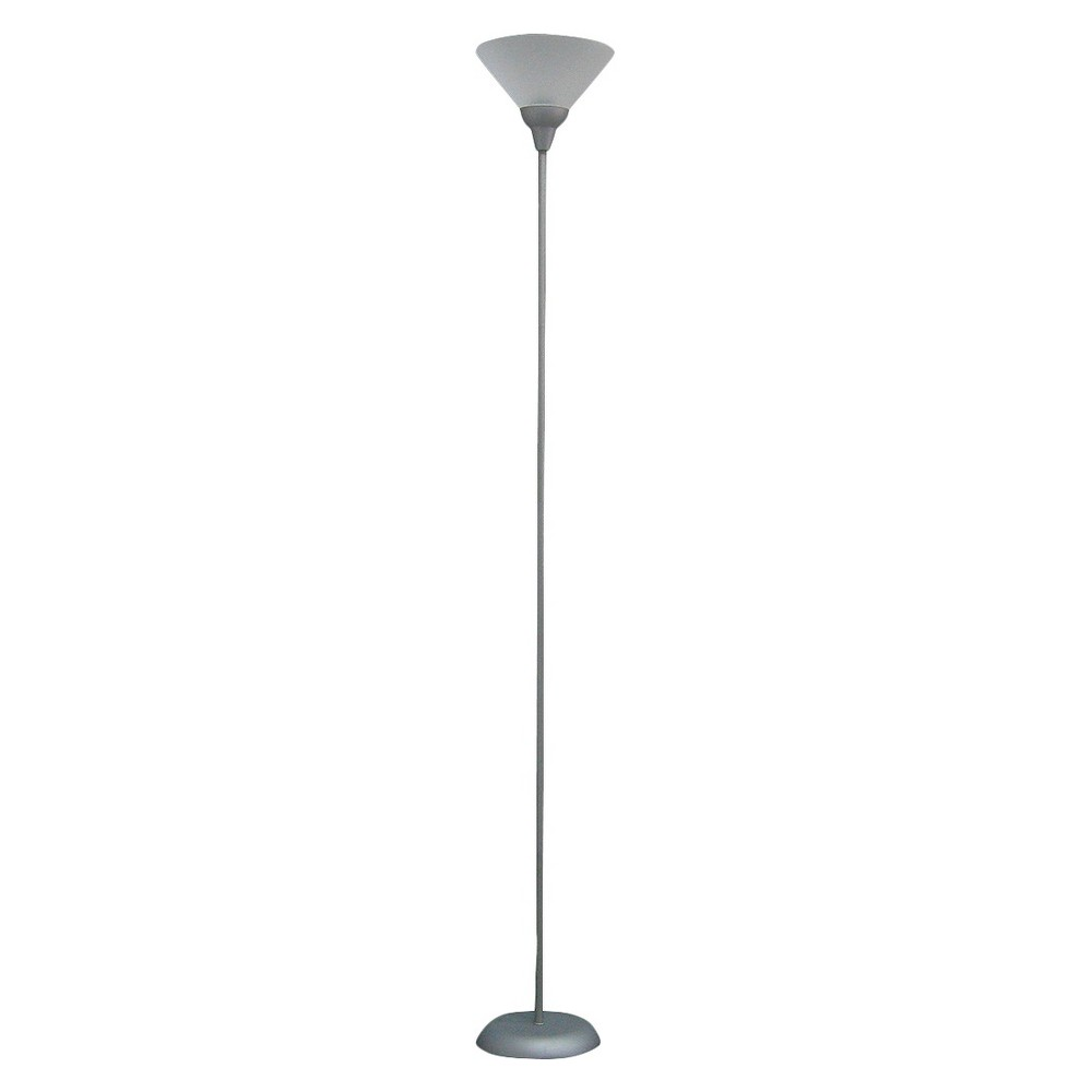 Torchiere Floor Lamp Gray Includes Led Light Bulb Room Essentials 8482