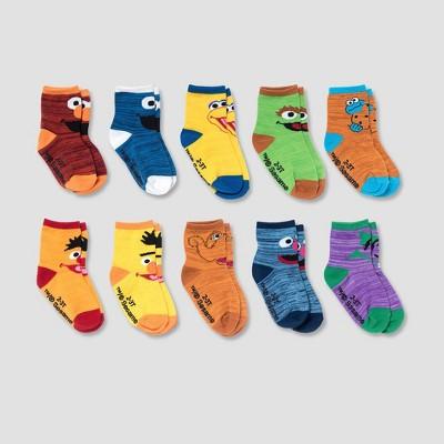 Toddler 10pk Sesame Street Ankle Socks