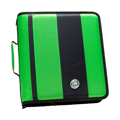 Case-it Classic O-Ring Zipper Binder, Green, 2 Inches - image 1 of 2