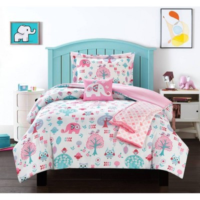 4pc Twin Mahmud Comforter Set Pink - Chic Home Design