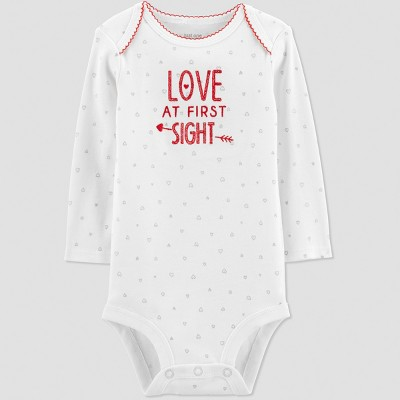 Baby Girls' Love at First Sight Bodysuit - Just One You® made by carter's Ivory 6M