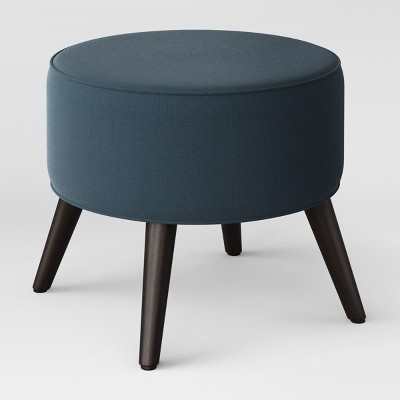 Riverplace Round Mid-Century Ottoman Blue - Project 62™