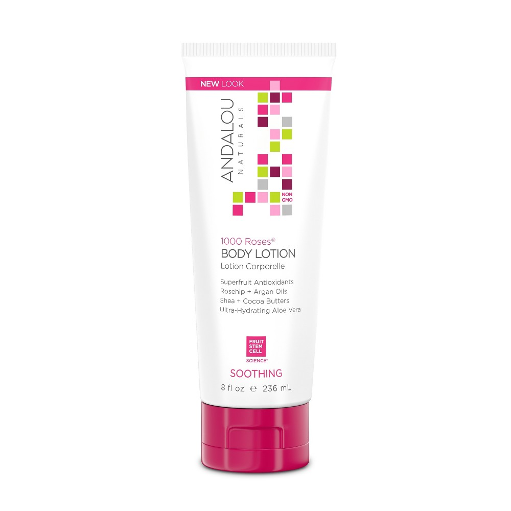 Image of Andalou Naturals 1000 Roses Soothing Body Lotion - 8 Oz