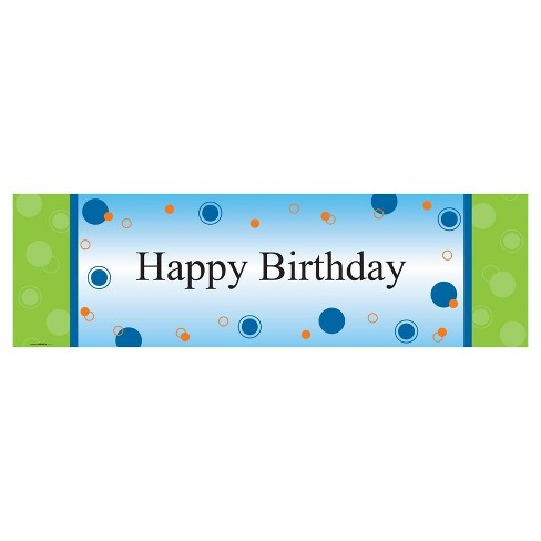 party birthday banner standard target