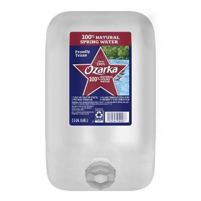 Ozarka Brand 100% Natural Spring Water - 2.5 gal Jug