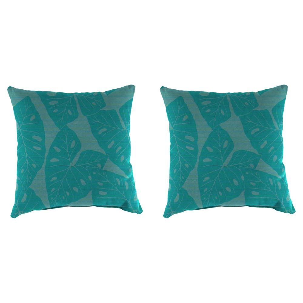 Image of Outdoor Set Of 2 Decorative Pillows - Aqua Spark - Jordan Manufacturing