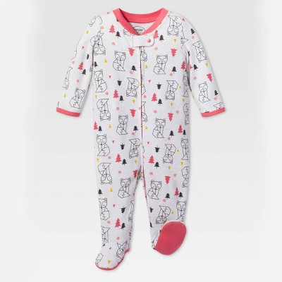 Lamaze Baby Girls' Modern Woodland Sleep N' Play - Gray/Pink 3M