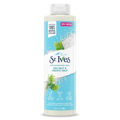 St. Ives Sea Salt & Pacific Kelp Plant-Based Natural Body Wash Soap - 22 fl oz
