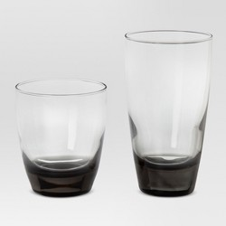 12pc Glass Sherbrook Assorted Tumblers Smoke - Threshold™