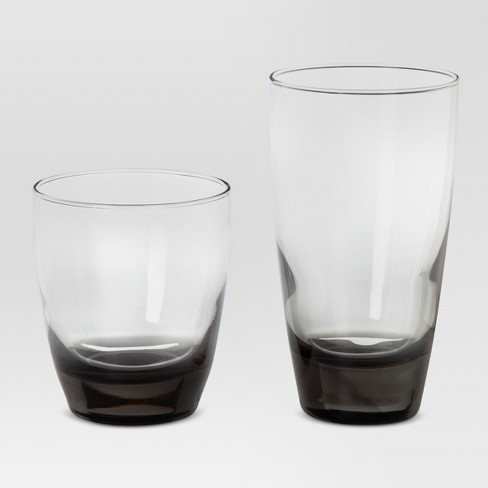 12pc Glass Sherbrook Assorted Tumblers Smoke - Threshold™ - image 1 of 4