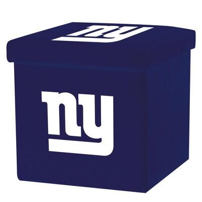 NFL Franklin Sports New York Giants Storage Ottoman with Detachable Lid
