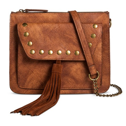 T-Shirt & Jeans™ Women's Studded Crossbody Handbag with Tassel - image 1 of 3