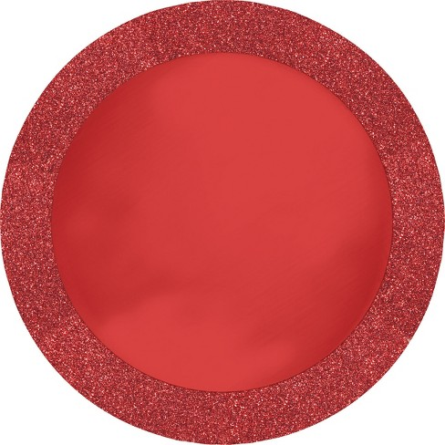 8ct Glitz Red Disposable Placemats - image 1 of 1