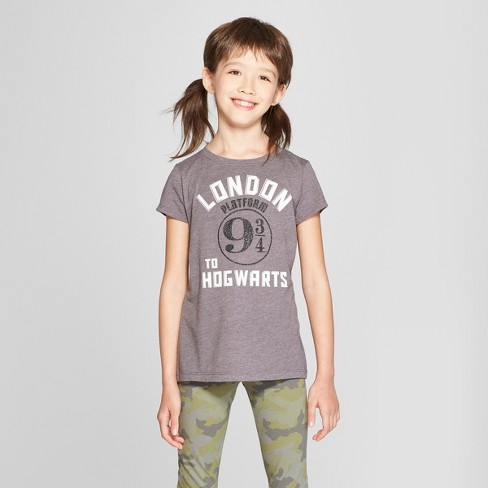 6a4fc868 Girls' Harry Potter Graphic Short Sleeve T-Shirt - Charcoal Heather XL :  Target
