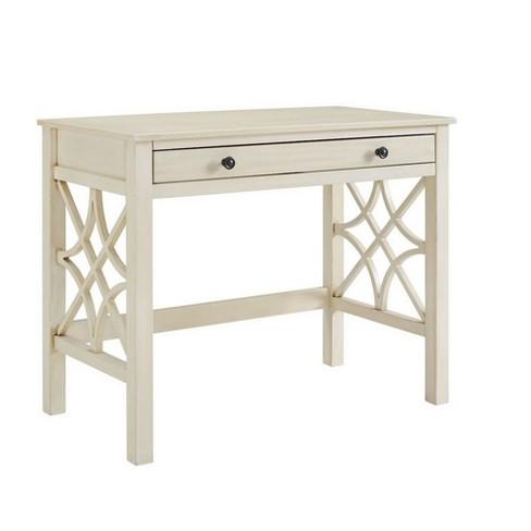 Whitley Antique Desk White - Linon - Whitley Antique Desk White - Linon : Target