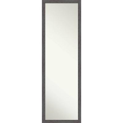 Pinstripe Framed Full Length on the Door Mirror - Amanti Art