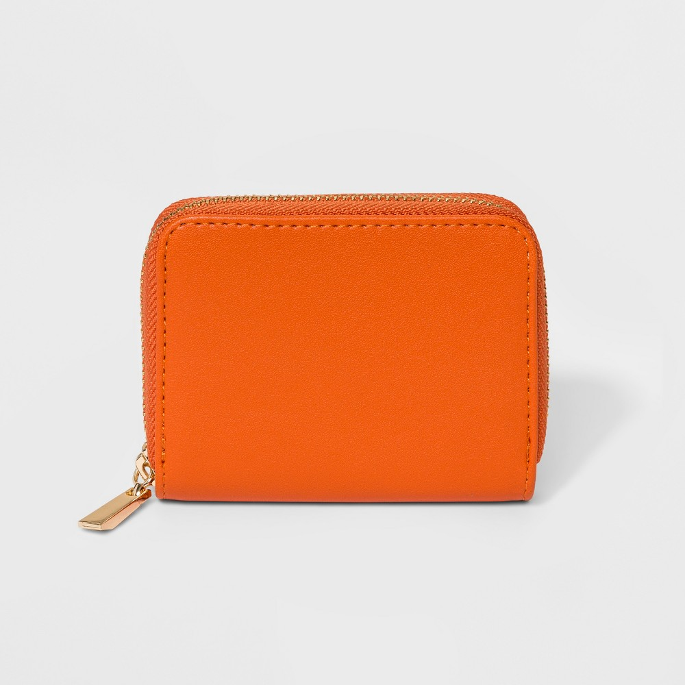 Women's Classic Small Wallet - A New Day Orange