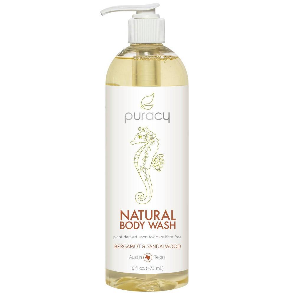 Image of Puracy Bergamot & Sandalwood Natural Body Wash Shower Gel - 16 fl oz