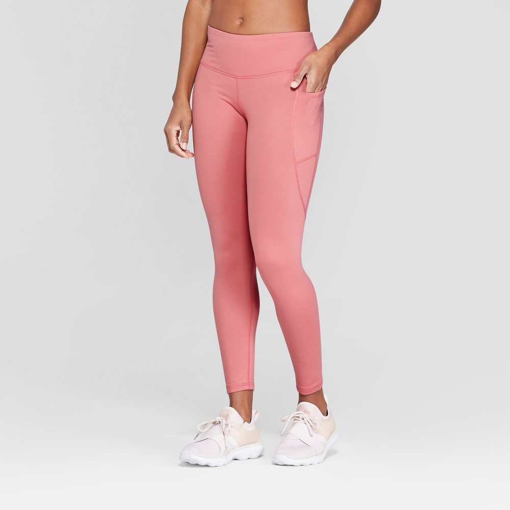 Women's Studio Mid-Rise Leggings - C9 Champion Pink L