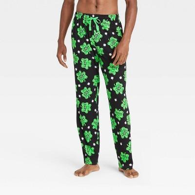 Men's Lucky Clover Pajama Pants - Black