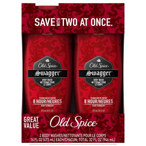 Old Spice Red Zone Swagger Scent Body Wash for Men - 16 fl oz/2pk - image 1 of 2