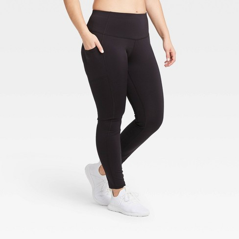 Women's Sculpted Mid-Rise Leggings - All in Motion™ Black - image 1 of 4