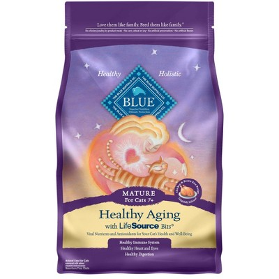 Blue Buffalo Healthy Aging with Chicken & Brown Rice Mature Premium Dry Cat Food