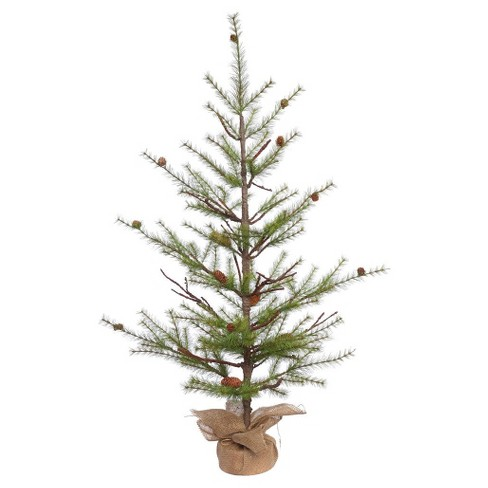 4ft Unlit River Pine Artificial Christmas Tree with Pine Cones - image 1 of 3
