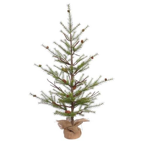 4ft unlit river pine artificial christmas tree with pine cones - Christmas Tree With Pine Cones