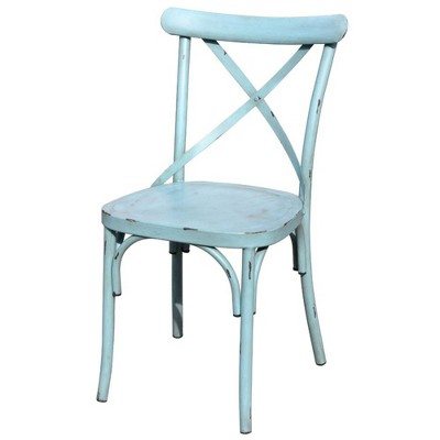 Brookwood 2pk X-Back Chairs - Blue - Courtyard Casual