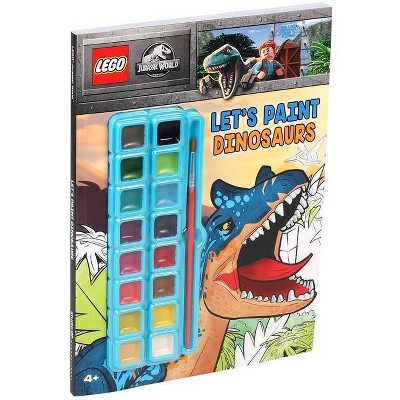 Lego(r) Jurassic World(tm): Let's Paint Dinosaurs - (Coloring Books with Covermount) (Paperback)