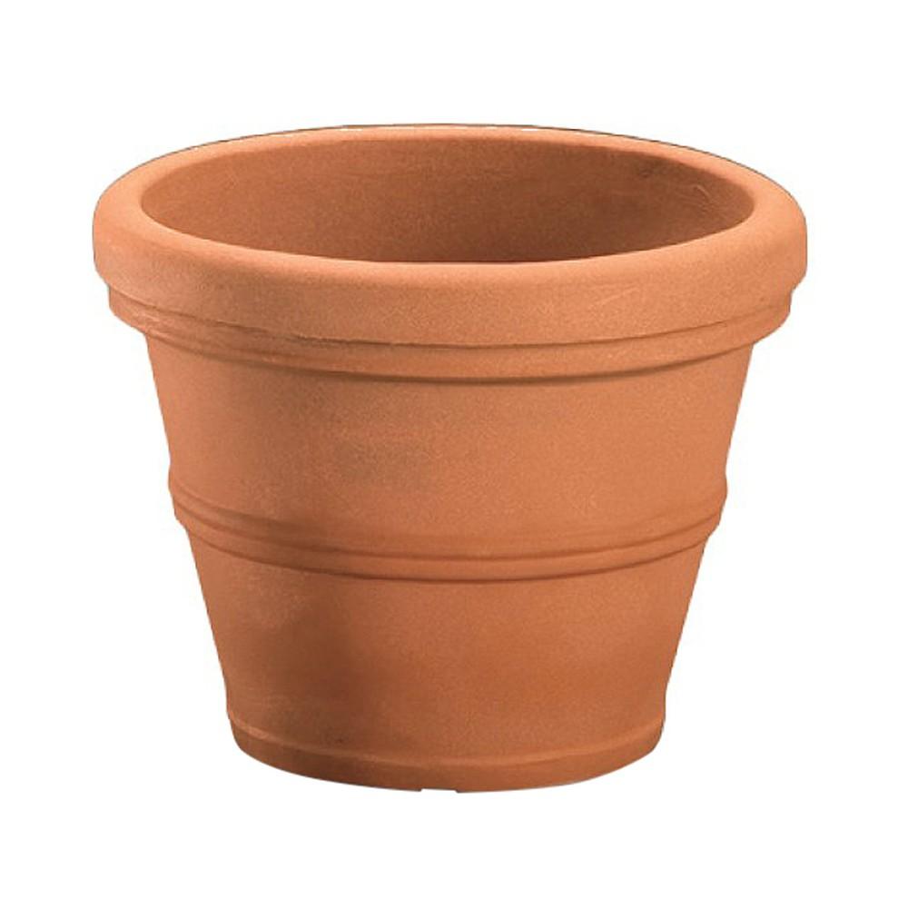 "Image of ""12'' Brunello Planter - Cinnamon - Crescent Garden, Size: 12"""", Red"""