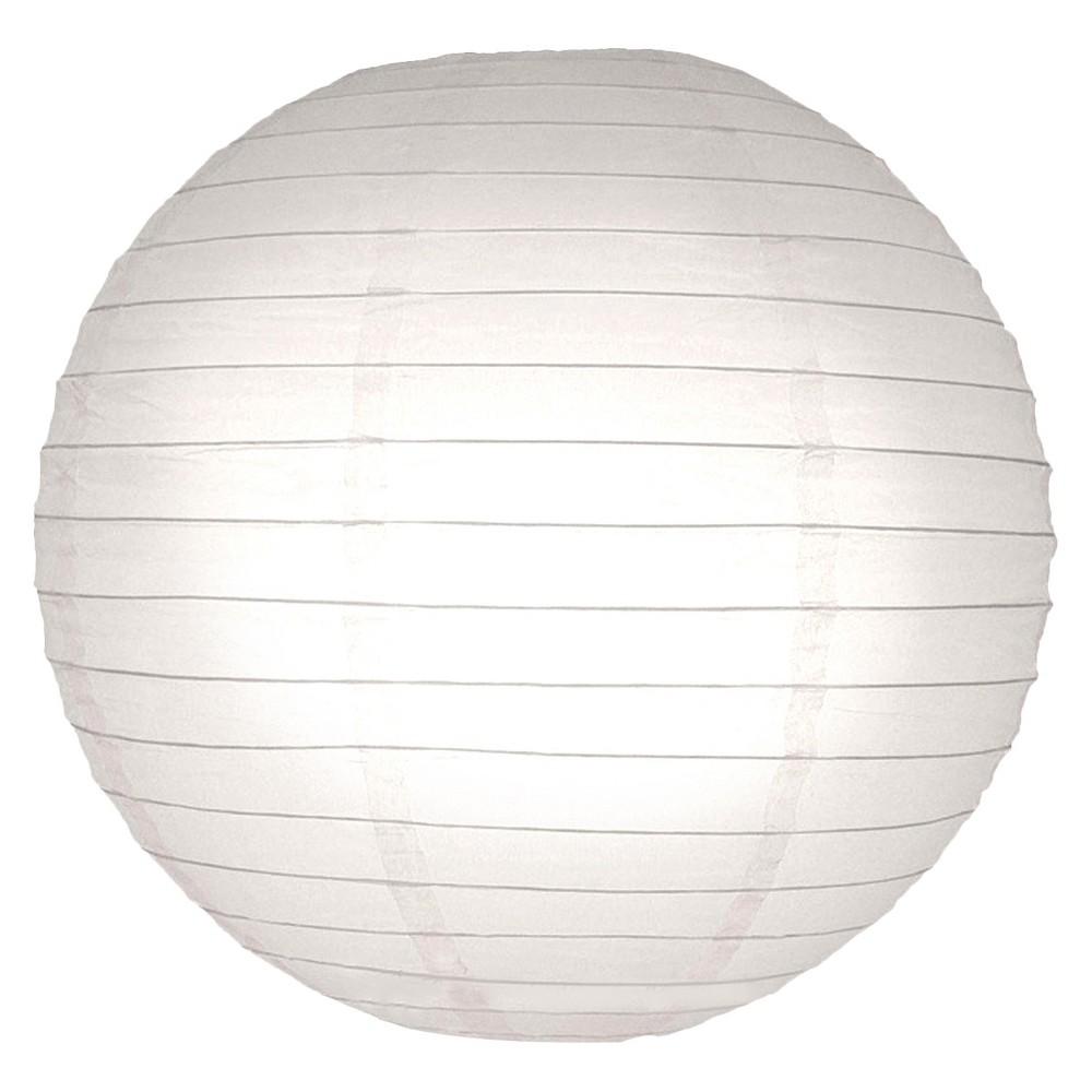 5ct Lumabase White Round Paper Lanterns 10