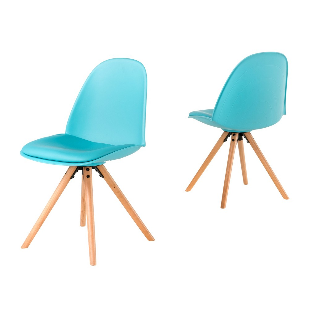 Esme Dining Chair Light Blue 18.75 (Set of 2) - Christopher Knight Home