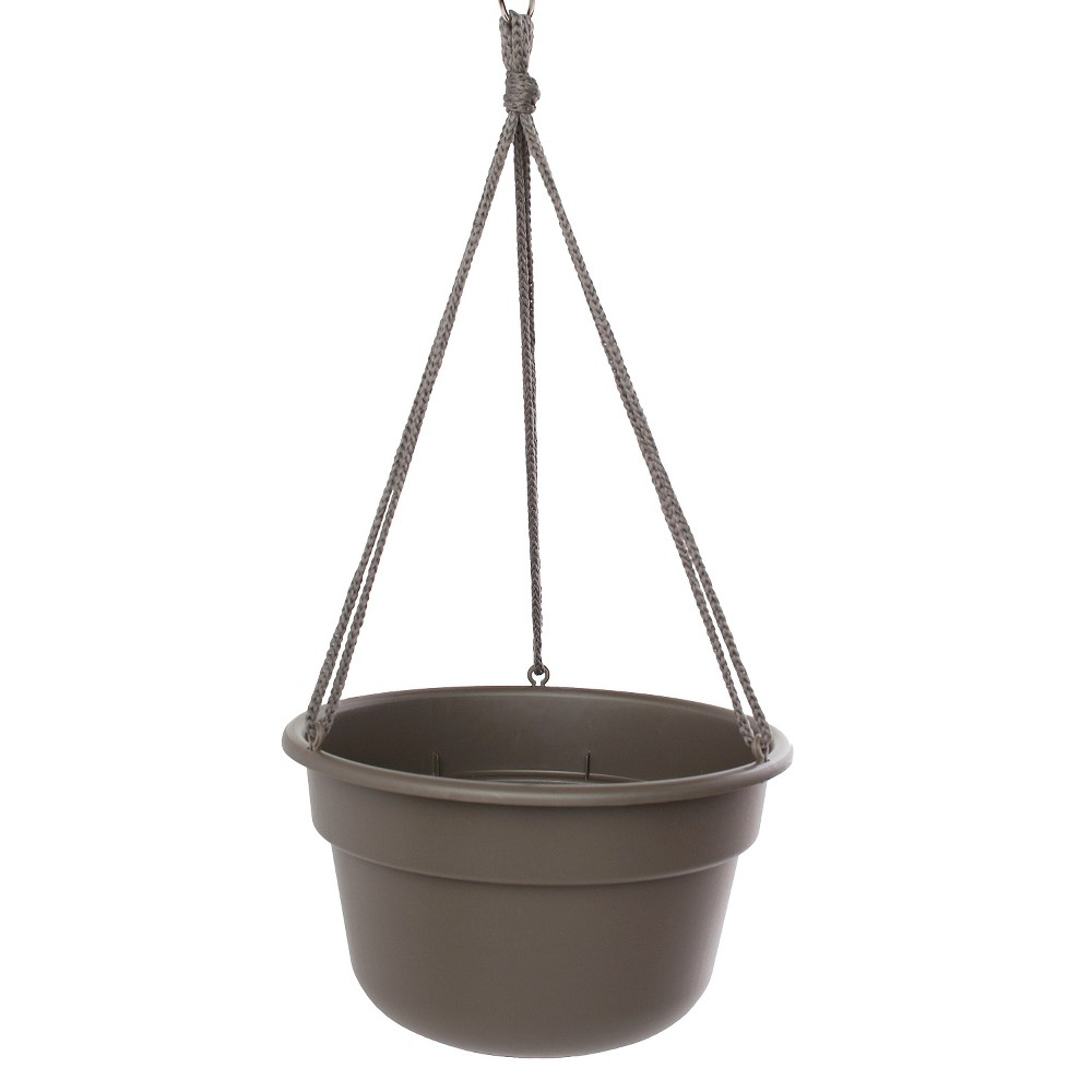 "Image of ""12"""" Dura Cotta Hanging Basket - Peppercorn Brown - Bloem"""