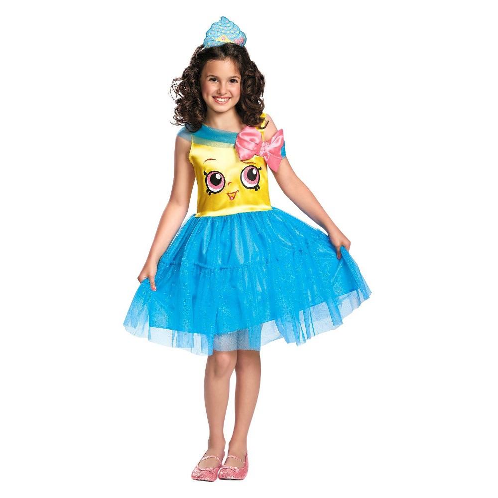 Image of Halloween Shopkins Girls' Cupcake Queen Costume - M(7-8), Girl's, Size: Medium(7-8), Blue