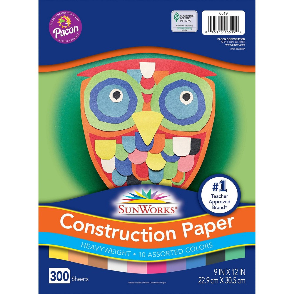 "Image of ""Fadeless 9"""" x 12"""" 300 Sheets Sunworks Construction Paper"""