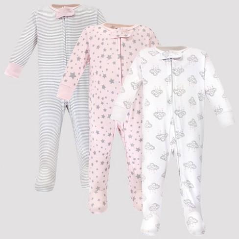 Hudson Baby 3pk Cloud Mobile Zipper Sleep N' Play - Gray/Pink - image 1 of 1