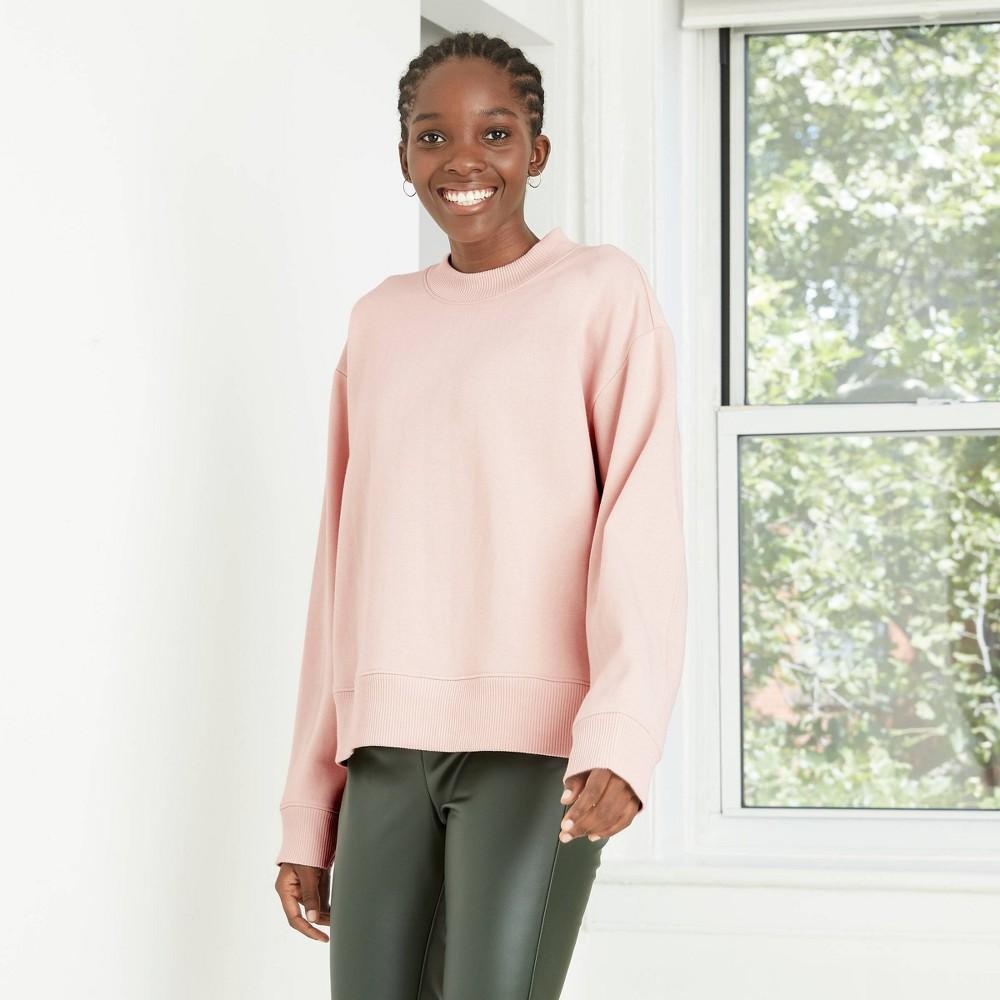 Women 39 S All Day Fleece Sweatshirt A New Day 8482 Pink L