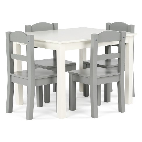 a1b843bdd241 Tot Tutors Set Of 4 Chairs With Springfield Kids Wood Table Gray   Target
