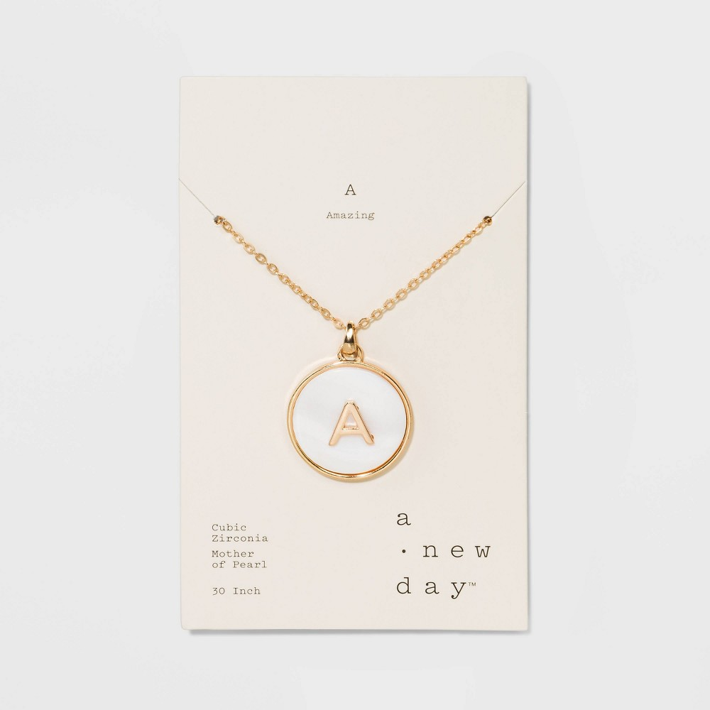 Mop Initial A Necklace 30+3 - A New Day Gold