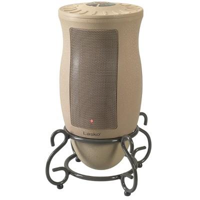 Lasko 6435 Designer Series 1500 Watt Decorative Base Oscillating Ceramic Space Heater, Tan