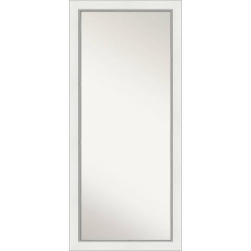 29 X 65 Eva Full Length Floor Leaner Mirror White Silver