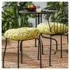 "Set of Two 18"" Shoreham Ikat Outdoor Bistro Chair Cushions - Kensington Garden - image 2 of 4"