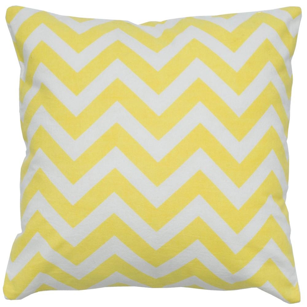 Rizzy Home Chevron Throw Pillow Yellow
