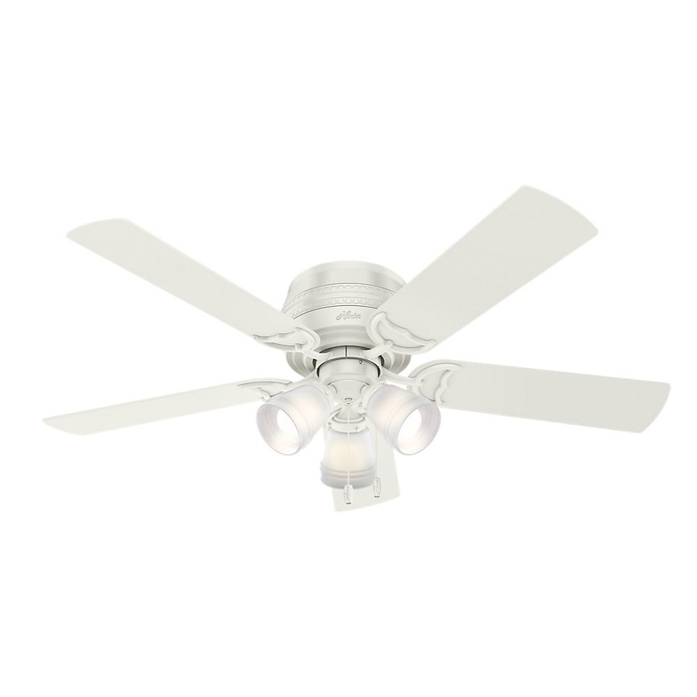 52 Prim Fresh Led Lighted Ceiling Fan Fresh White - Hunter Fan