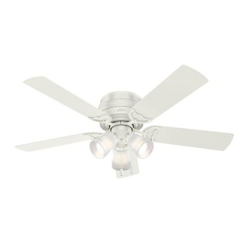 """52"""" Prim Fresh LED Lighted Ceiling Fan Fresh White - Hunter Fan - image 1 of 11"""