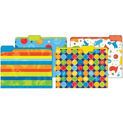 JAM Paper Dr Seuss File Folders 4-Tabs Letter Size Assorted 4/Pack JIG866407